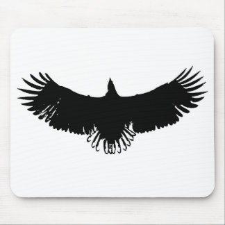 Black & White Eagle Silhouette Mousepads
