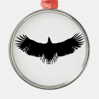 Black & White Eagle Silhouette Christmas Ornament