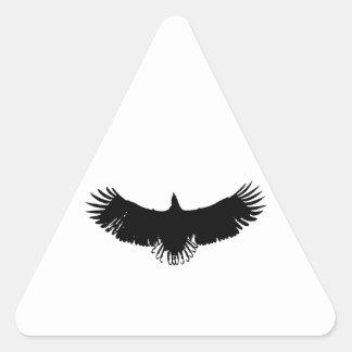 Black & White Eagle Silhouette Triangle Sticker