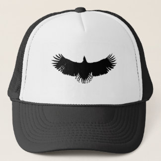Black & White Eagle Silhouette Trucker Hat