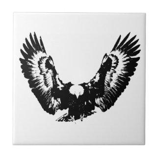 Black & White Eagle Tile