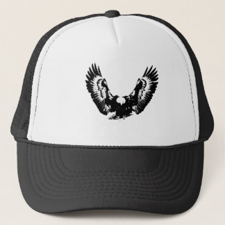 Black & White Eagle Trucker Hat