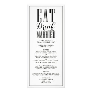Black & White | Eat Drink and be Married Menu