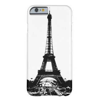 Black & White Eiffel Tower Barely There iPhone 6 Case