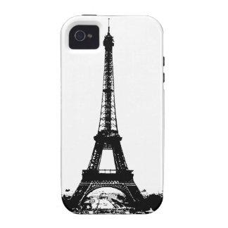 Black & White Eiffel Tower iPhone 4/4S Covers