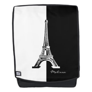 Black White Eiffel Tower | Cool Gifts Backpack