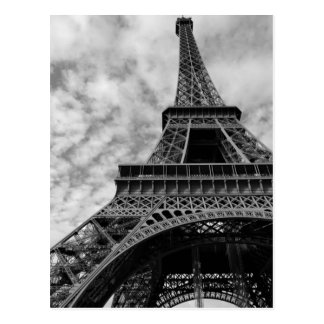 Black & White Eiffel Tower From Below - Paris City Postcard