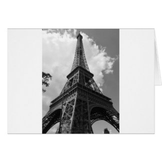 Black & White Eiffel Tower in Paris Card