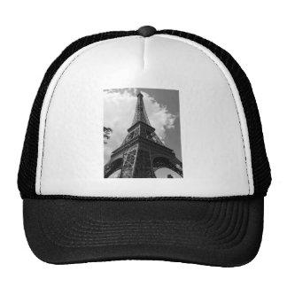 Black & White Eiffel Tower in Paris Trucker Hat