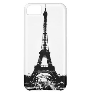 Black & White Eiffel Tower iPhone 5C Covers