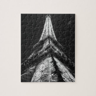 Black White Eiffel Tower Paris Europe Travel Jigsaw Puzzle