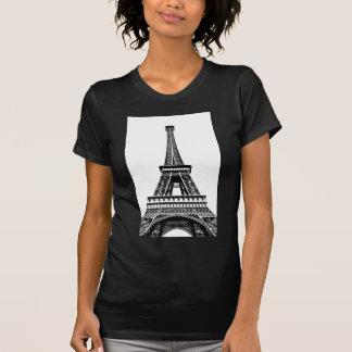 Black white Eiffel Tower Paris France Art Artwork T-Shirt