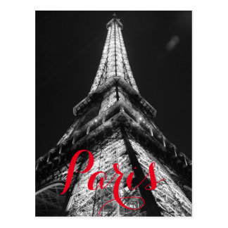 Black & White Eiffel Tower Paris France Classical Postcard