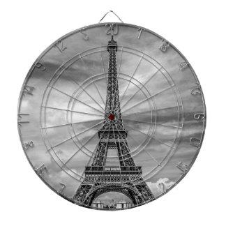 Black & White Eiffel Tower Paris France Dart Boards