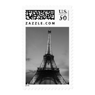 Black & White Eiffel Tower Paris Postage