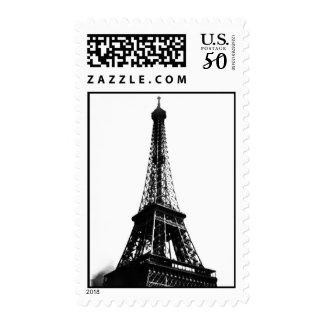 Black & White Eiffel Tower Postage
