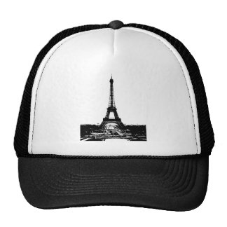Black & White Eiffel Tower Trucker Hat
