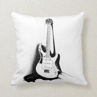 Black & White Electric Guitar - Cushion