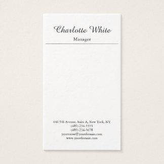 Black White Elegant Brush Script Minimalist Modern Business Card