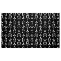 Black white elegant damask pattern fabric