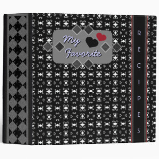 Black & White Elegant Fun Chintz Binder