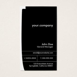 Black & White Elegant Modern  Professional Business Card