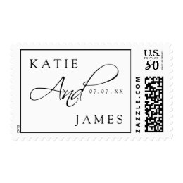Black White Elegant Names | Wedding Postage