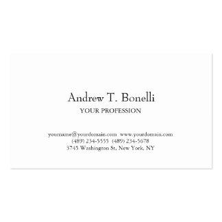 Black White Elegant Plain Simple Business Card