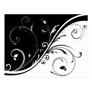 Black & White Elegant Postcard