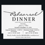 "black white Elegant Script Rehearsal Dinner Invite<br><div class=""desc"">black and white Elegant Script Wedding Rehearsal Dinner Invitations</div>"