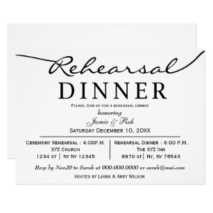 rehearsal dinner invitations zazzle