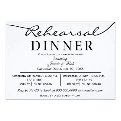 Wedding Rehearsal Dinner Invitation Wedding Vows Zazzle Com
