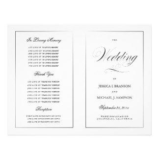 Black & White Elegant Wedding Program Template