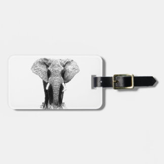 Black & White Elephant Bag Tag