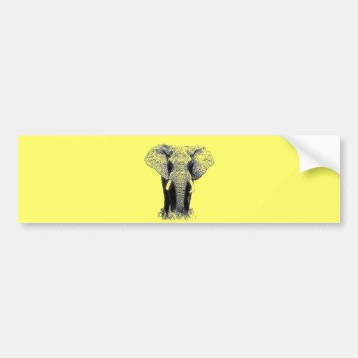 Black & White Elephant Bumper Sticker