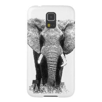 Black & White Elephant Galaxy S5 Cases