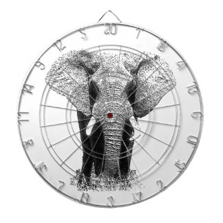 Black & White Elephant Dartboard With Darts
