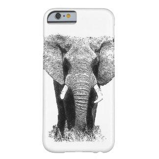 Black & White Elephant iPhone 6 Case