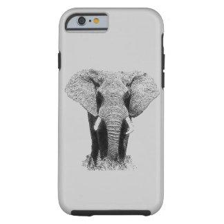 Black & White Elephant Tough iPhone 6 Case