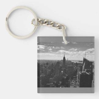 Black & White Empire State Manhattan NY Keychain