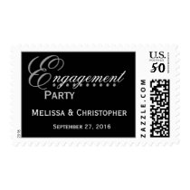 BLACK & WHITE Engagement Party Stamp