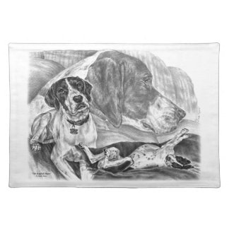 Black & White English Pointer Dogs Placemat