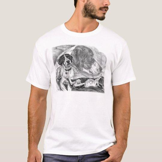 Black & White English Pointer Dogs T-Shirt