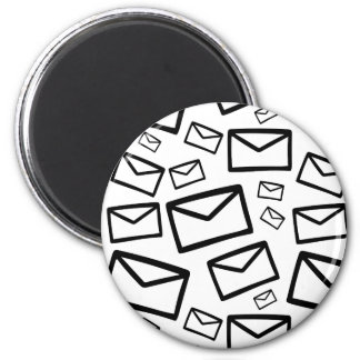 Black&white envelopes everywhere magnet