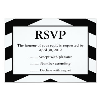 Black & White Event Reply, RSVP or Response Cards