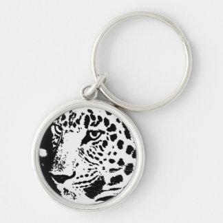 Black & White Eye of Leopard Key Chains