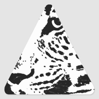 Black & White Eye of Leopard Triangle Stickers