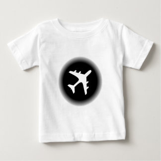 Black white fade airplane design t shirts
