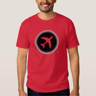 Black white fade airplane design tees