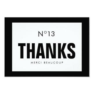 Black & White Fashion THANK YOU NOTE CARD